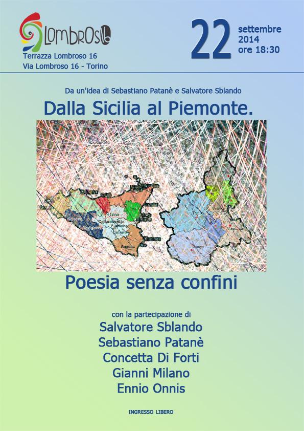 Dalla Sicilia al Piemonte. Poesia senza confini (Torino 22/9/14)
